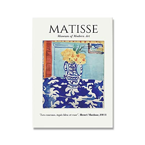 Henri Matisse, carteles e impresiones retro, paisaje abstracto, arte de pared, lienzo, pintura de lienzo sin marco para el hogar, A 60x90cm