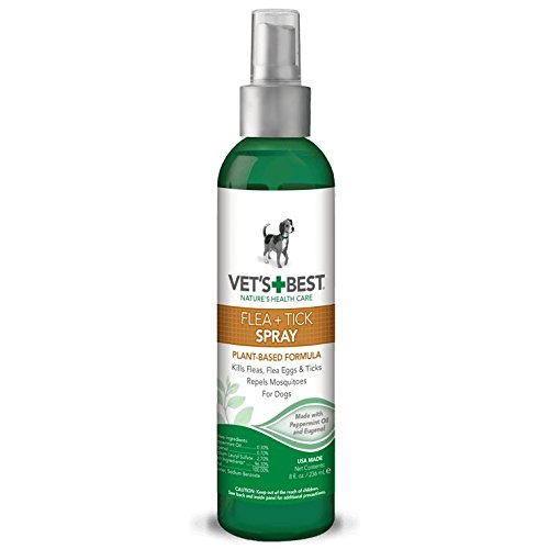Vet's Best Flea & Tick Spray, 8 oz, USA Made