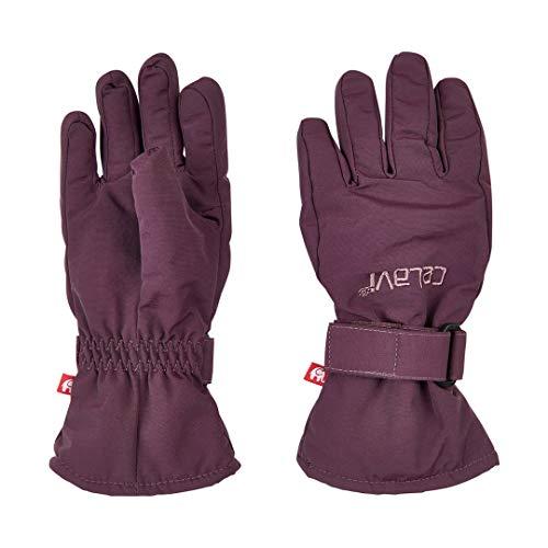 CeLaVi Finger-Handschuhe bordeaux Größe 98