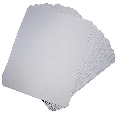 Vaorwne 10 Stück blanko Mauspads für Sublimations-Transfer, Hitzepresse, Drucken, Basteln