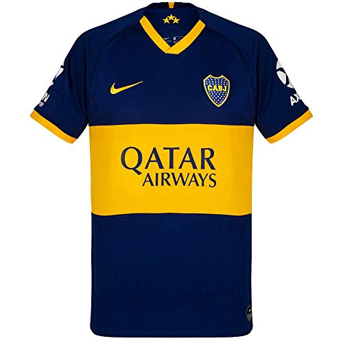 Nike Men's Boca Juniors 2019/20 Home Soccer Jersey (Small)