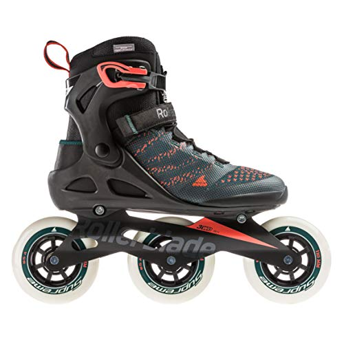 Rollerblade Unisex– Erwachsene MACROBLADE 110 3WD Inline-Skate, Teal Green/orange Burst, 275