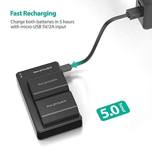 Alpha 9R A9R Alpha 7R IV A7R3 Alpha 9S RAVPower Sony NP-FZ100 Cargador Bateria 2000mAh de 2 Bater/ía Compatibles con Sony Alpha 9 A7RIII A9 a7 III 2019 Nuevo versi/ón
