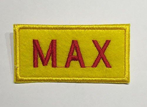 shoperama Broke Girls  Placa para nombre Caroline o Max Camarera Serie Disfraz Carolina Disfraz Carnaval Cartel Variante: Max