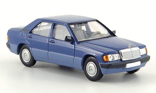 Mercedes 190E (W201), blau, 1988, Modellauto, Fertigmodell, Brekina Starmada 1:87