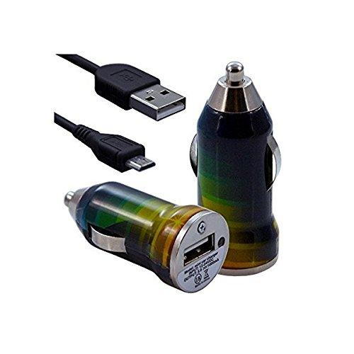 Seluxion-Cargador de coche, USB CV06 para Sony Xperia Z2