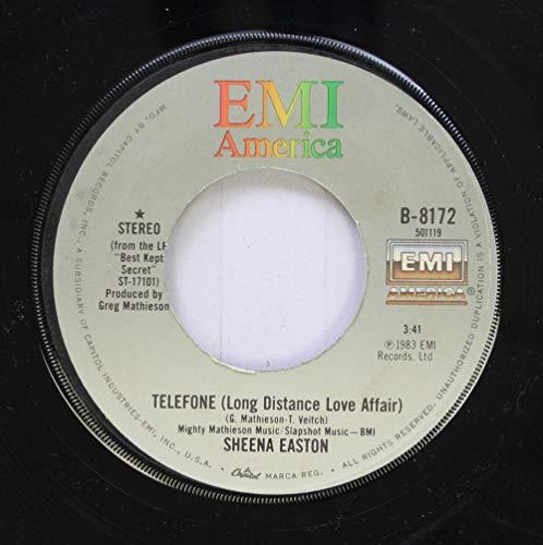 Sheena Easton 45 RPM Telefone (Long Distance Love Affair) / Wish You Were Here Tonight