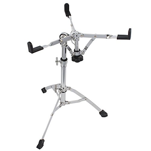 ammoon Professional Snare & Dumb Drum Stand Rack Multiple Triangle Bracket Braced Chrome Metal Percussion Gear Support