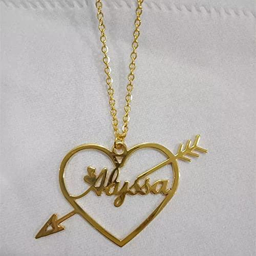 RTEAQ Moda Collar Joyas Gargantilla Flecha corazón Collares para Mujer niña Collares Colgantes Regalos Hechos a Mano joyería de Boda Parejas Fiesta San Valentín Cumpleaños Regalos