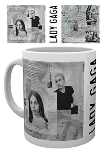 Lady Gaga - Taza, diseño con texto 'Notes Collage'