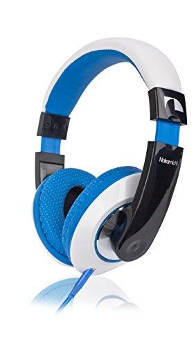 Nakamichi NK 780 Over-Ear Stereo Kopfhörer (1,5 m, 3,5 mm Klinkenstecker, 85dB) blau
