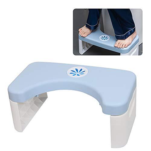 ZoneYan Toilettenhocker Erwachsene, Hocker für Toilette, WC Hocker Faltbar, Klohocker Erwachsene, Toilettenhilfe Tritthocker, Squatty Fußbank, Toilet Stool für Eine Gesunde Darmflora (Blue)