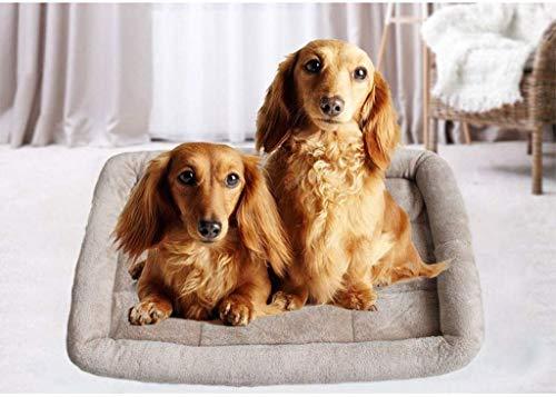 YLCJ Cojín de Cama para Perros, Almohadilla para colchoneta de Piel de Gato para Mascotas, cojín para Cama de Perro, cómodo para Dormir en Invierno (tamaño: M45 * 60 cm)