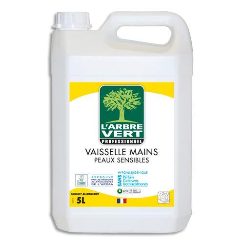 COLDIS Liquide Vaisselle Arbre Vert Peaux Sensibles Dégraissage Nettoyage Vaisselle Main Hypoallergénique Bidon