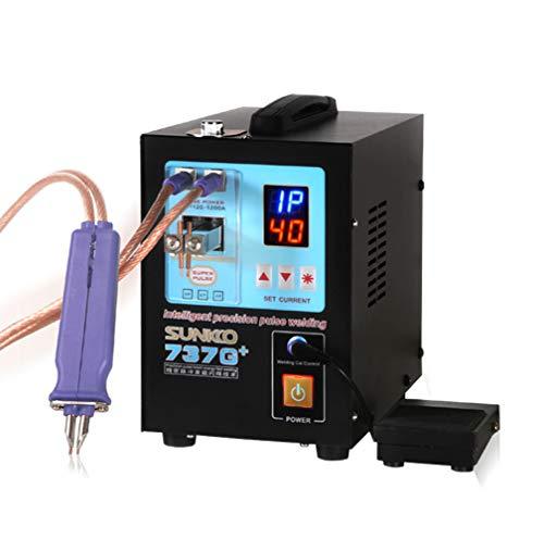 Hanchen 4,3 kW Punktschweißgerät für Akkus Tragbar Mini Batterie SchweißgerätSpot Welder DIS Induktion 2 in1 für 18650 16430 22650 32650 Batterie 220V