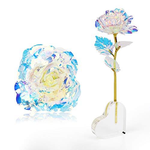 Mitening Personalisierte Frauen Geschenk, 24K Gold Rose Künstliche Blumen Handgefertigt Deko Geschenke für Hochzeit Freundin Mama Muttertag Frau Geburtstag Hochzeitstag Jahrestag Dankeschön Schwester