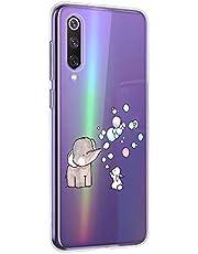 Oihxse Animal Serie Case Compatible con Samsung Galaxy A5 2018/A8 2018 Funda Transparente Suave Silicona Elefante Conejo Patrón Protector Carcasa Ultra-Delgado Creativa Anti-Choque Cover (A7)