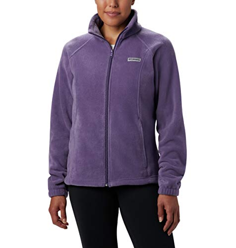 Columbia Women's Benton Springs Full Zip Jacket, Soft Fleece with Classic Fit, Plum Purple, X-Large