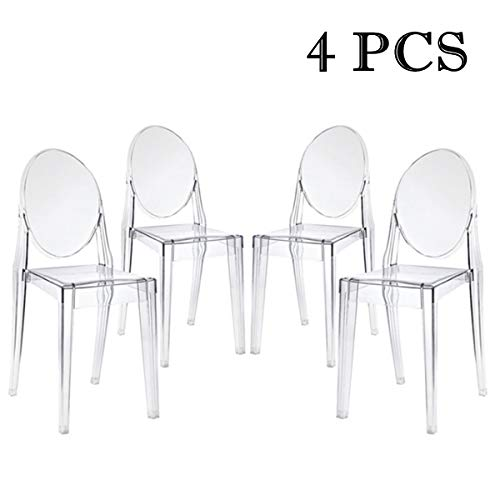 Living Room Bedroom Combo Ideas, Wellgarden 2 Ghost Chair Armchair Acrylic Transparent Clear Philippe Starck Style Dining Chairs Dining Room Home