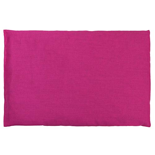 Traubenkernkissen 30 x 20 cm, pink - Als Wärmekissen & Kältekissen - Körnerkissen für Mikrowelle und Backofen (30x20cm)