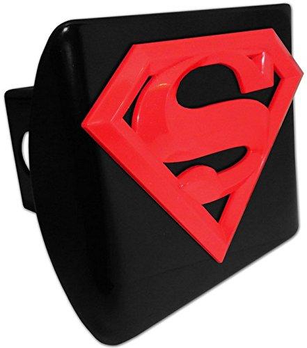 Elektroplate Superman Red emblem on black METAL Hitch Cover