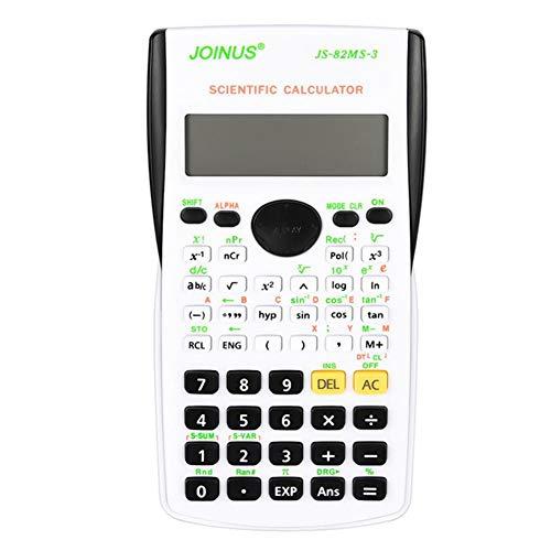 Wetenschappelijke rekenmachine, ASHATA multifunctionele batterij-aangedreven wetenschappelijke rekenmachine voor wiskunde-examentest voor middelbare/middelbare scholieren op batterijen(Zwart)