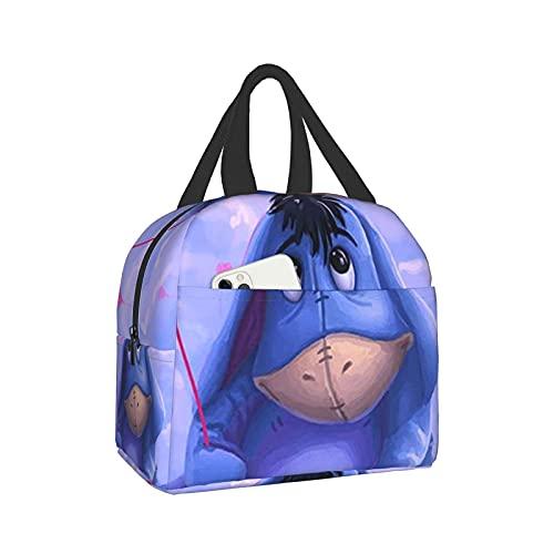 Eeyore (2) bolsa portátil de aislamiento térmico para arroz, impermeable, bolsa de almuerzo, bolsa reutilizable para adultos y niños