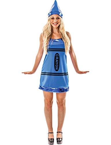 ORION COSTUMES Costume de déguisement de crayon pastel bleu pour femmes