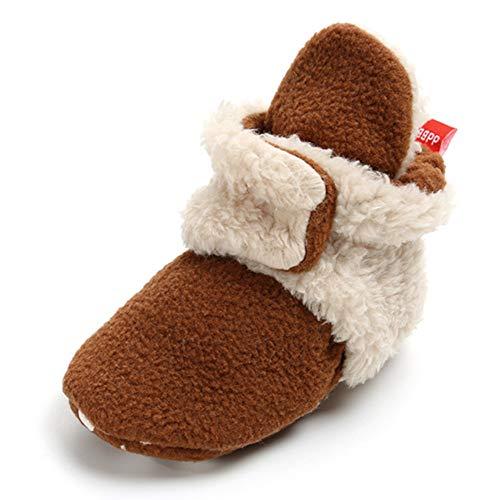 TIMATEGO Newborn Baby Boys Girls Cozy Fleece Booties with Grippers Stay On Slipper Socks Infant...