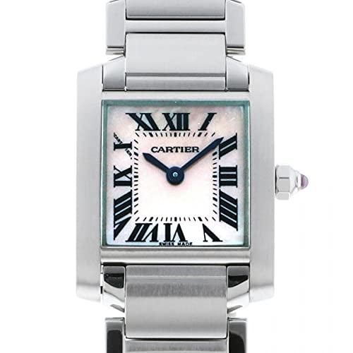 カルティエ Cartier タンク フランセーズ SM W51028Q3 ピンク文字盤 中古 腕時計 レディース (W208793) [並行輸入品]