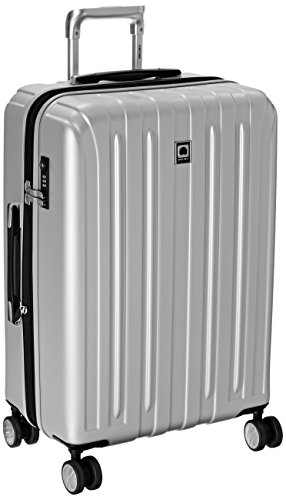 DELSEY Paris Titanium Hardside Expandable Luggage with Spinner Wheels, Silver, Checked-Medium 25 Inch