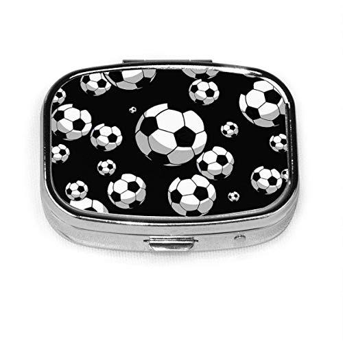 Pillendose - Kundenspezifische Fußball-Pillendosen, tragbare rechteckige Metall-Silber-Pillen-Hülle, kompakter Raum, Pillenhüllen fo