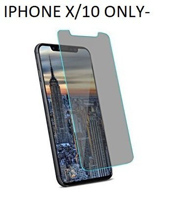 Porche Origanls 2.5D/3D Anti Spy Privacy Tempered Glass Screen Protector (Full Glue) for iPhone X/XS / 10 (2.5D Curved 5D Anti spy Privacy).