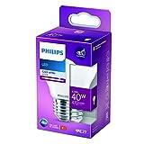 Philips LED Classic Bombilla, 40 W, E27, P45, Mate, Luz Blanca Fría, No Regulable