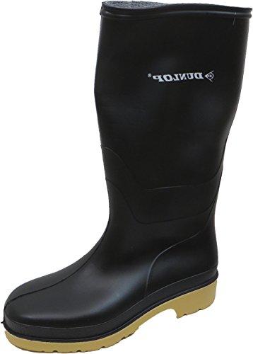 Dunlop Protective Footwear Unisex-Erwachsene Dunlop Dull Gummistiefel, Schwarz, 37 EU