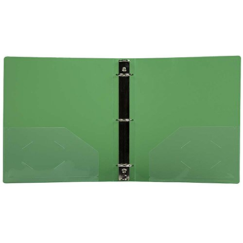 JAM PAPER Plastic 1.5 inch Binder - Green 3 Ring Binder - Sold Individually Photo #2