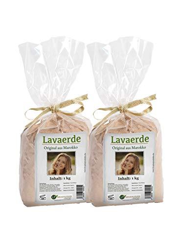 Lavaerde/Ghassoul | Original aus Marokko | 2kg | feines Pulver zur chemiefreien Haarwäsche, Körperpflege & Peeling | vegan | marokkanische Tonerde | Heilerde | Wascherde | Rhassoul | Anti Schuppen