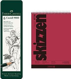 20 Blatt je Malblock DIN A3 10x Faber Castell Zeichenblock
