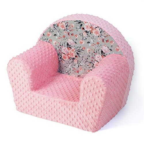 MuseHouse kinderstoel kinderstoel mini-sofa kruk voor kinderen & peuters kinderstoelen kruk (roze/bloem)