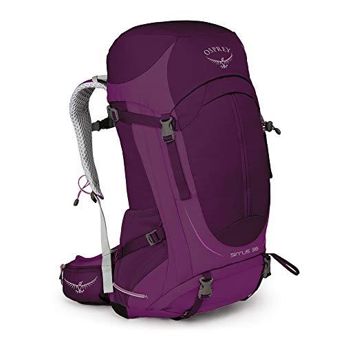 Osprey Sirrus 36 belüfteter Wanderrucksack für Frauen - Ruska Purple (WS/WM)