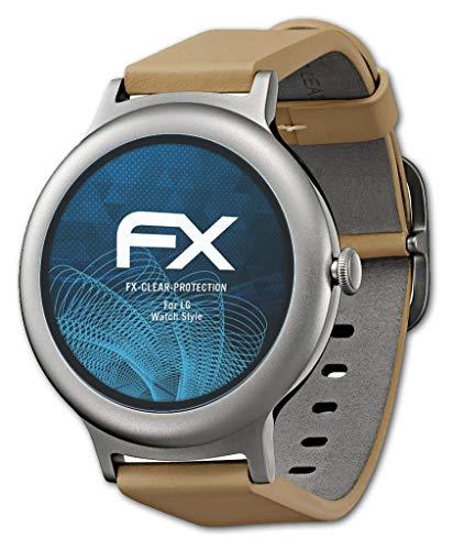 atFoliX Schutzfolie kompatibel mit LG Watch Style Folie, ultraklare FX Bildschirmschutzfolie (3X)