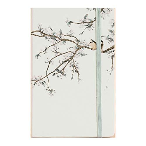 computadora portátil Pintura de paisaje del cuaderno A5, rejilla, tapa dura, dura superficie, revistas Diario, Cuenta lado, for muchachas de las mujeres, el trabajo escolar Records cuaderno de escrito