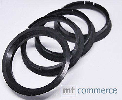 4X Anelli di centraggio 76,0X 67,1mm Nero Cerchi Anelli Made in Germany