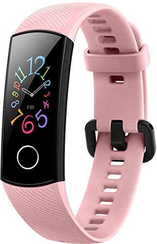 Honor Band 5 wasserdichter Bluetooth Fitness Aktivitätstracker mit Herzfrequenzmesser, AMOLED-Farbdisplay, Touchscreen, Coral Pink