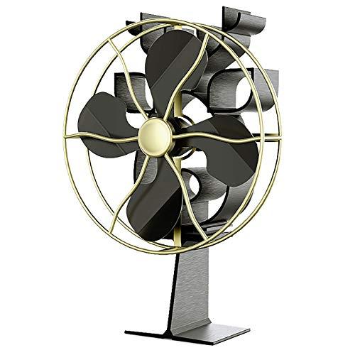 ZXWNB Kaminventilator 4-Blatt-Thermofensterlüfter Für Holz- / Holzbrenner-Thermofenster