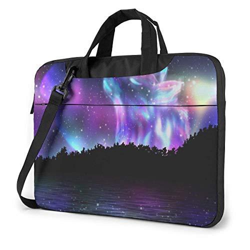 Wolf Unisex Laptop Bag Messenger Shoulder Bag for Computer Briefcase Carrying Sleeve