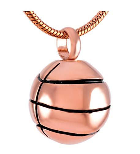 nxychunmei Verwendet für menschliche Asche/Souvenir-Basketballanhänger, Edelstahl-Feuerbestattungsschmuck für Gedenkasche