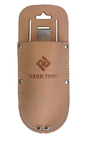 TABOR TOOLS Leather Holster for Pruning Shears, Sturdy Craftsmanship Tool Belt Accessory Sheath, Fits Most Garden Scissors.