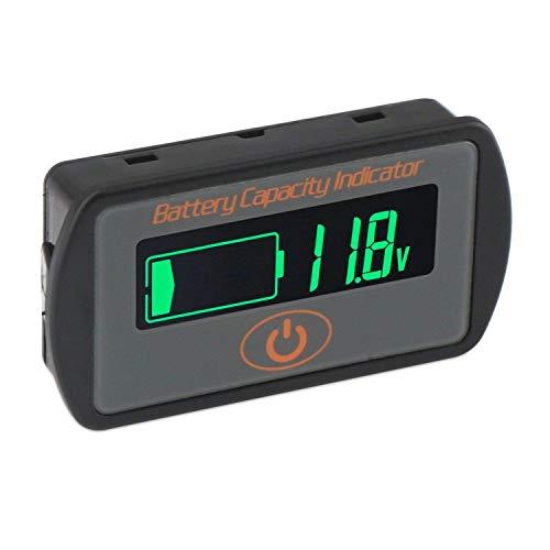 Aili Batterie-Kapazitätsanzeige 2-in-1 Spannung Kapazität SOC Combo Meter Blei-Säure 12 V 24 V 36 V 48 V Lithium Li-Ion 2S ~ 15S 7,4 V ~ 56 V