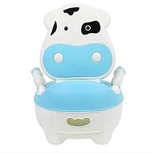 Bearhouse Orinal Bebe para Infantil Niños Niñas WC con Tapa Azul